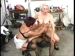 hairy old grannys have fun with a jock