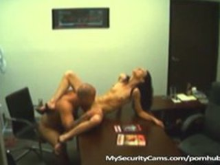 married wife copulates her lad toy in her office