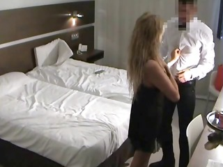 breasty blonde takes her stud in bed and sucks