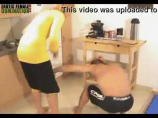cuckold hubby is abased and punished by his angry