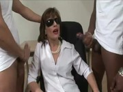 interracial aged lady sonia acquires cumshots