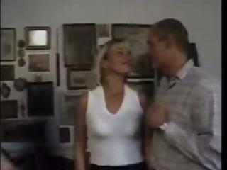 mature blond sucks cock then gets fingered and