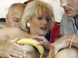 mature german blond gets double fucked