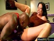 milf receive inside her pussy a large dark ramrod