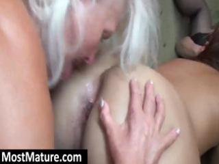 excited grannies have a hot lesbo some with a