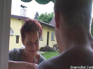 granny rides neighbours big pounder