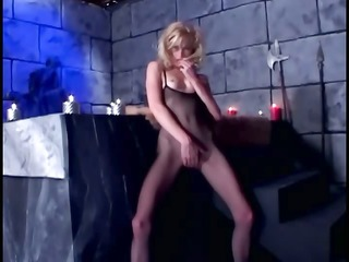 fetish sex in fishnet nylons and shiny latex