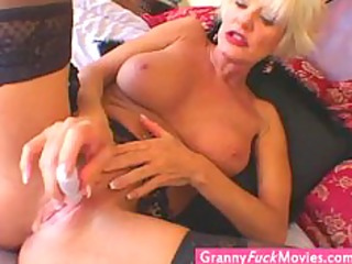 Extreme super hot blonde granny