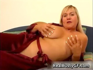 breasty mommy on a sexy dildo fucking session