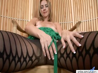 hot mother i in hose undresses and masturbates