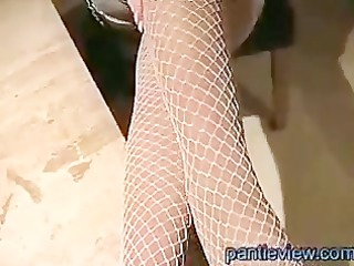 amateur housewife with large milk sacks gives