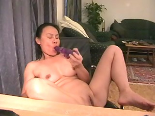 mature oriental in a masturbation movie