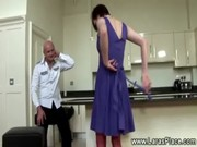 older lady in nylons acquires spanked
