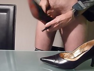 fucking with and cumming in wifes high heel