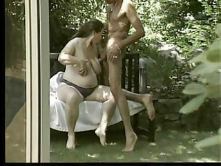 preggo german milf - outdoors anal