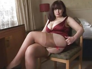 large milk sacks mature panty play and striptease