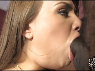 cuckolds wife with fake lips and milk sacks