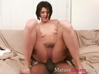 horny housewife with large dark shlong