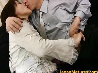 aged real oriental woman getting part0